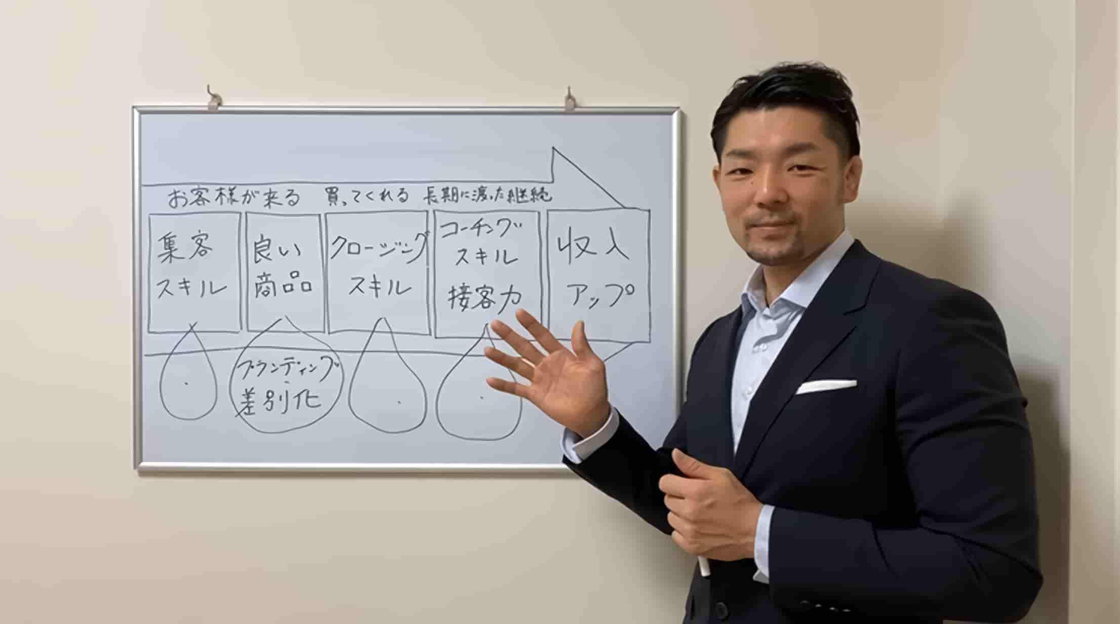 パーソナルトレーナー専門自己ブランディング経営コンサルタント安沢明也がオンラインセミナーをする様子